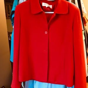 Jones New York Red jacket, Sz 10